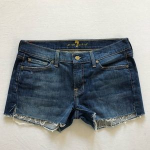 7 for all Mankind Cut Off Denim Shorts Size 29